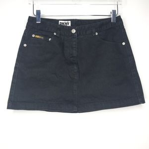 DKNY Jeans Black Denim Mini Skirt A100554